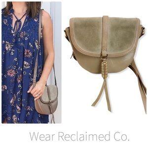 STELLA & DOT Crossbody Leather & Suede Bag
